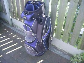 Powakaddy golf bag excellent condition with rain cover and shoulder strap 11 way divider