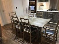 Antique ercol table and chairs