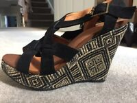 Monsoon wedges- high- used but in good condition