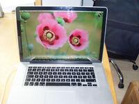 MacBook Pro 15 2.9 quad I7 8GB 500GB HD Logic Pro X Latest OSX