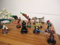 STAR WARS ATTACKTIX BATTLE FIGURES ��5 AND ��10 EACH - PLAYED WITH BUT EXCELLENT CONDITION