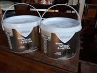 5 litres of newly bought cream coloured paint