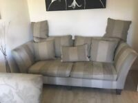 4 seater and 3 seater sofas