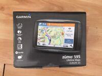 Garmin ZUMO 595LM 5 Inch Motorbike GPS Navigation with UK, Ireland and Full Europe Maps, still boxed