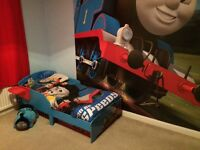 Thomas the Tank Engine bed and duvet set £45