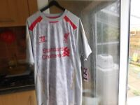 LIVERPOOL FC TOP BRAND NEW WITH TAGS ON SIZE LARGE PLUS OTHER LIVERPOOL STUFF