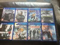 Loads new ps4 games for sale from £14 each upto £37 each some sealed ask for prices on games
