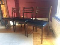Mid-century teak chairs
