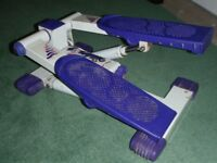 Exercise stepper - white and purple