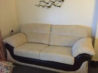Sofa and chair with foot stool
