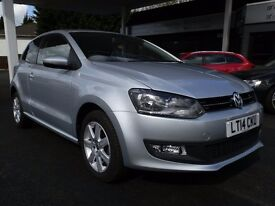 Volkswagen Polo 1.4 Match Edition DSG 3dr in siver. Immaculate one owner car. 30400 miles warranted