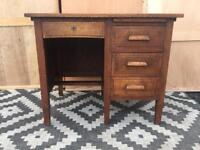 Vintage oak desk /small