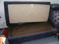 Convertible sofa bed blue.