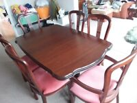 ROSSMORE DINING SET # TABLE AND SIX CHAIRS # EXTENDABLE