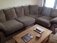 DFS brown corner sofa REDUCED