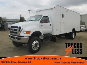2011 ford F-750 XLT 4X4, 24 Ft VAN + MORE!!!