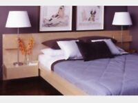 Oldmeldrum(NOT Turriff). -IKEA Malm Double Bed with matching bedside cabinet attachments
