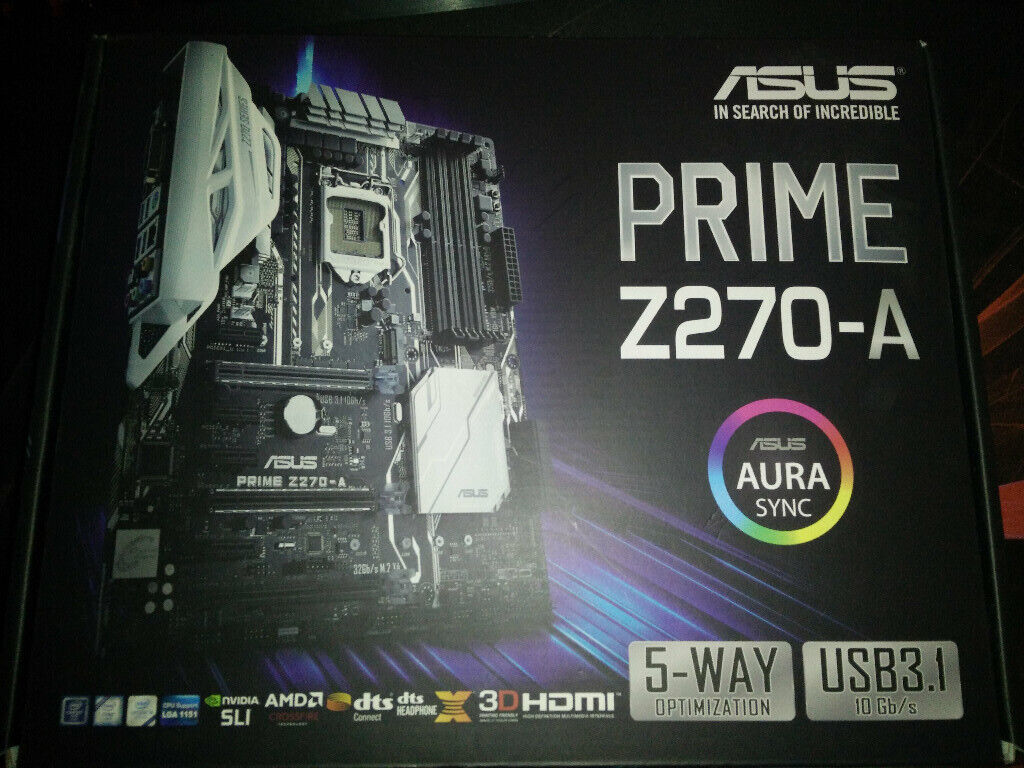 Asus Prime Z270-A motherboard + Intel G3930 CPU + Ballistix 4GB DDR4 2666  RAM | in Montrose, Angus | Gumtree