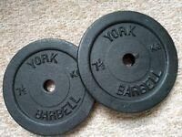 """1"""" Weight Discs ~ 7.5kg"""