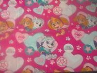 PAW PATROL KIDS SINGLE BED COVER/DUVET & PILLOW CASE GIRLS