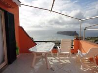 Seaside property real estate in Italy for sale. 3 bed villa with great seaviews. Leasehold
