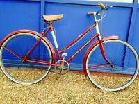 Red BSA vintage city bike Stunning Condition