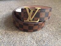 Louis Vuitton Brown Belt For Sale Origin Belgium