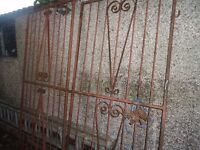 WROUGHT IRON SECURITY GATED / GRILLS