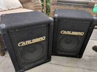 Carlsbro cabinets with Celestion speakers