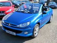 04/04 Peugeot 206CC Allure 1.6 Convertible, Metallic Blue.**12m MOT, 2 Keys, Service.**