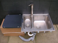 ikea 1 1/2 bowl stainless sink with tap