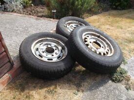 "13"" spare wheelfor trailer or carf/van 5 1/2"" pcd"