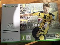 Xbox One S with Fifa 17 Brand New sealed with full warranty Possible extras check Description