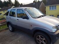 Diashu terrios petrol jeep 1.3 90k on clock comes with 12 months mot and two new front tires