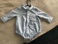 NEXT baby boy 6-9 month blue shirt new no labels