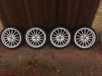 "OZ Superturismo 18"" 5 x 100 Wheels (Genuine) - Subaru Impreza / Toyota Celica"