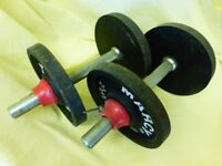 dumbbells/weights