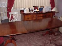 Antique dinning table and set of 6 chairs