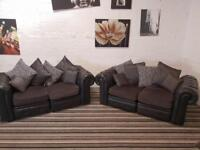 Gorgeous real leather chesterfield design sofa set