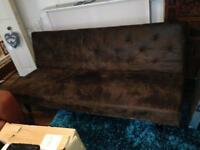 Faux leather click clack victorian style sofa bed