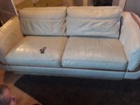 FREE 3 seater cream sofa (collection only) some damage but dosent effect the use read discription