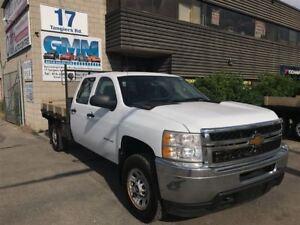 2011 Chevrolet SILVERADO 3500HD WT Crew Cab Flat Deck 4X4 Gas