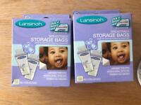 Lansinoh breastmilk storage bags x97 total.