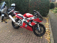 YAMAHA R6 RED WHITE AND BLACK