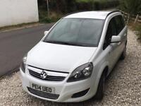 Vauxhall zafira 1.8 exclusiv 7 seater petrol