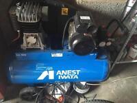 100 litre compressor used once like new