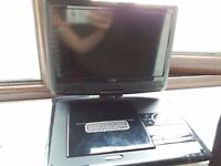 portable logik dvd player 9 inch screen works with usb too