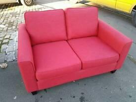 John Lewis Portia 2 seater fabric sofa in red
