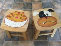 2very attractive design nursery stools