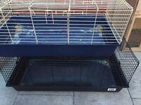 1 large 1 medium indoor rabbit cage
